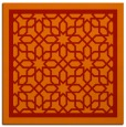 rug #854143 | square red borders rug