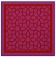 rug #854151 | square red borders rug