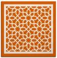 rug #854167 | square red-orange borders rug