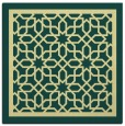 rug #854215 | square blue-green borders rug