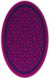 rug #854271 | oval blue borders rug