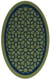 rug #854279 | oval blue borders rug