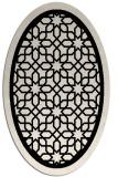 rug #854300 | oval borders rug