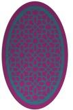 rug #854319 | oval pink borders rug