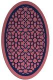 rug #854331   oval blue-violet borders rug