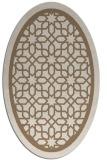 rug #854379 | oval beige borders rug