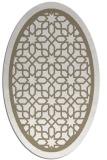 rug #854383   oval white borders rug