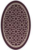 rug #854387 | oval pink borders rug