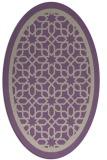 rug #854411 | oval beige borders rug