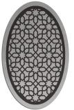 rug #854439 | oval orange borders rug