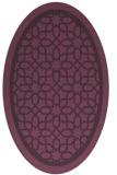 rug #854459 | oval purple geometry rug