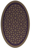 rug #854467 | oval purple geometry rug