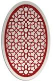 rug #854483 | oval red borders rug