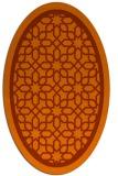 rug #854491 | oval red-orange borders rug