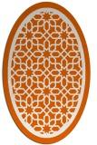 rug #854503 | oval red-orange geometry rug