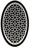 rug #854507 | oval black borders rug