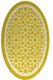 rug #854511 | oval white borders rug