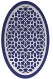 rug #854515 | oval blue borders rug