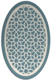 rug #854523 | oval white borders rug