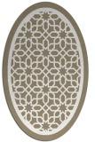 rug #854527 | oval beige borders rug