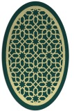 rug #854551 | oval yellow borders rug