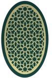 rug #854551 | oval yellow borders rug