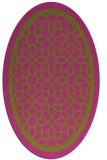 rug #854563 | oval light-green borders rug