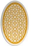rug #854571 | oval light-orange borders rug