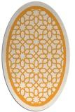 rug #854583 | oval white borders rug