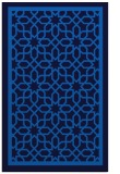 rug #854603 |  blue geometry rug