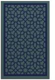 rug #854611 |  blue borders rug