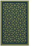 rug #854615 |  green borders rug