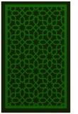 rug #854631 |  green borders rug