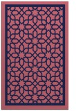 rug #854667 |  blue-violet geometry rug
