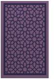 rug #854671    blue-violet borders rug