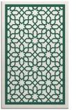 rug #854699 |  blue-green borders rug