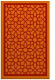 rug #854815 |  orange borders rug