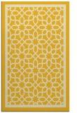 rug #854867 |  yellow geometry rug