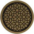 rug #854935 | round black borders rug