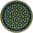 rug #854951 | round green rug