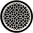 rug #854971   round blue-green borders rug