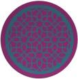 rug #854991   round pink borders rug