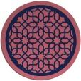 rug #855003   round pink borders rug
