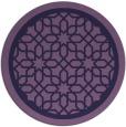 rug #855007   round purple borders rug