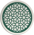 rug #855035 | round blue-green geometry rug