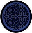rug #855071 | round black borders rug