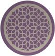 rug #855083   round purple borders rug