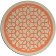rug #855107 | round orange geometry rug