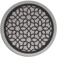 rug #855111 | round orange borders rug