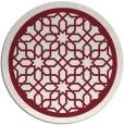 rug #855119 | round pink borders rug